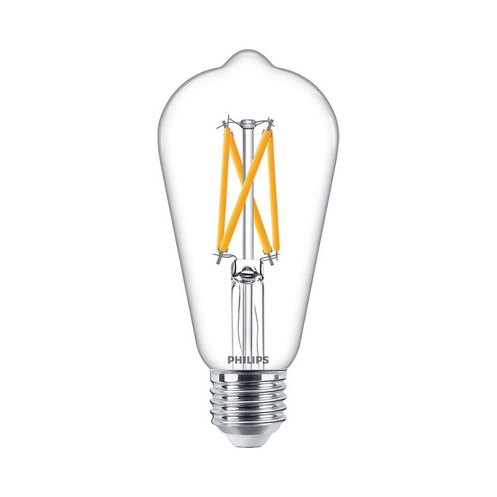 Philips Classic LEDbulb E27 ST64 7W 927 806lm Fadenlampe   DimTone - Extra Warmweiß - Ersatz für 60W