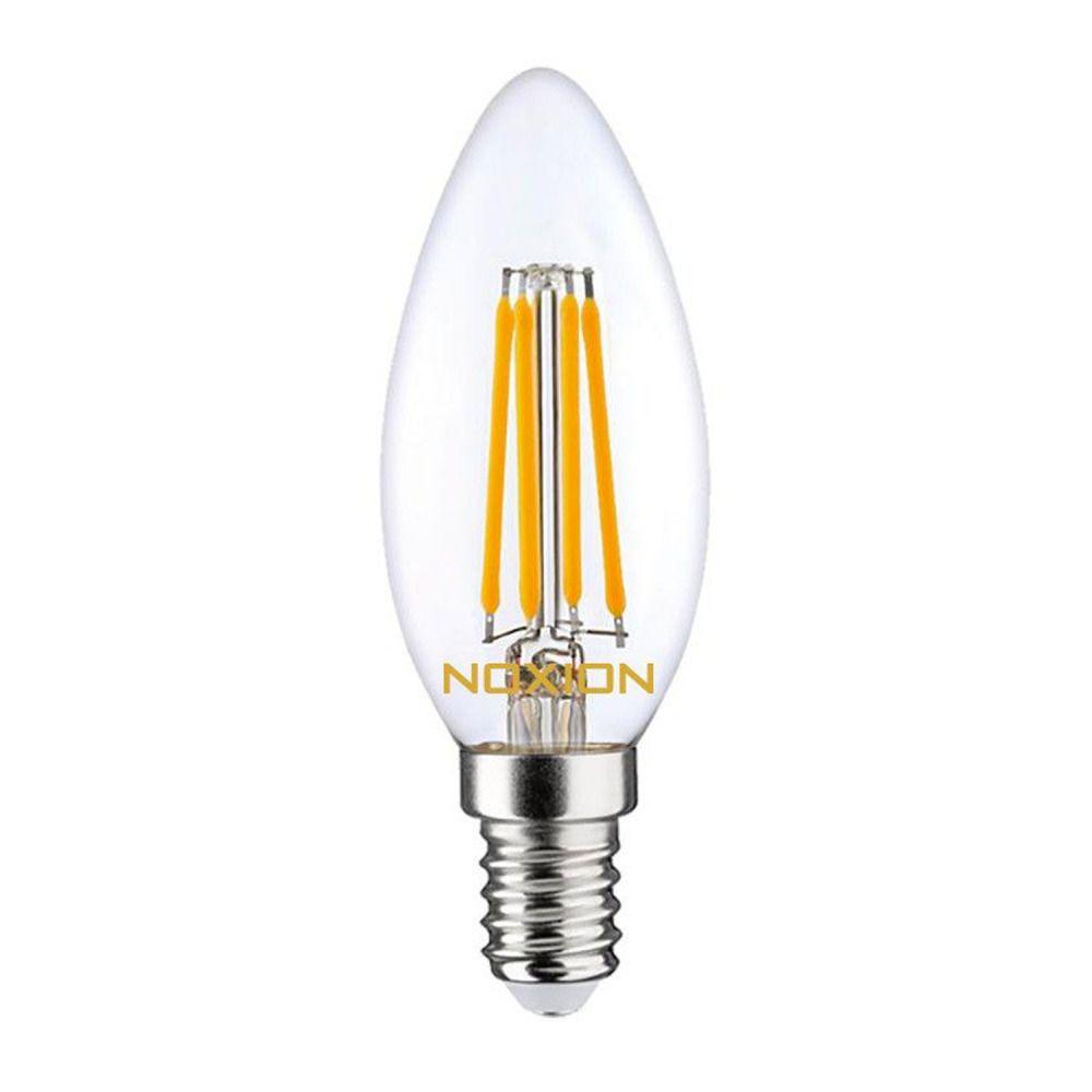 Noxion Lucent Fadenlampe LED Candle 4.5W 827 B35 E14 Klar | Ersatz für 40W