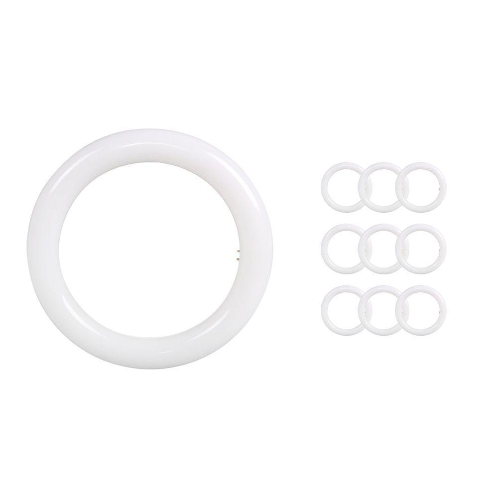 Mehrfachpackung 10x Noxion Avant LED T9 Tube Circular EM/MAINS 12W 840   Kaltweiß - Ersatz für 22W