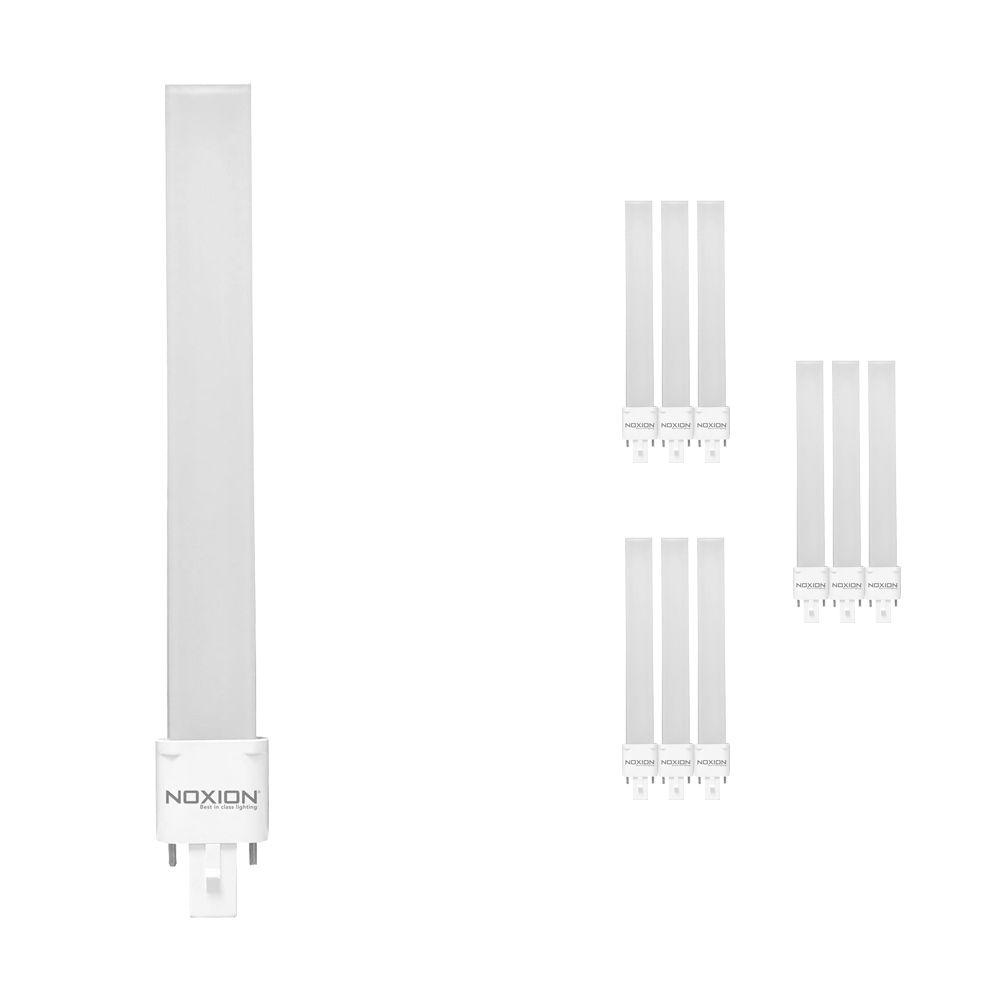 Mehrfachpackung 10x Noxion Lucent LED PL-S EM 6W 840 | Kaltweiß - 2-Pins - Ersatz für 11W