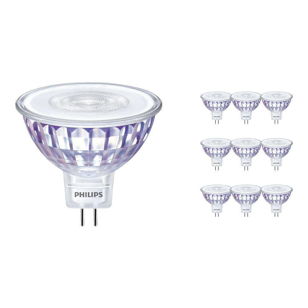 Mehrfachpackung 10x Philips CorePro LEDspot LV GU5.3 MR16 7W 830 36D | Warmweiß - Ersatz für 50W