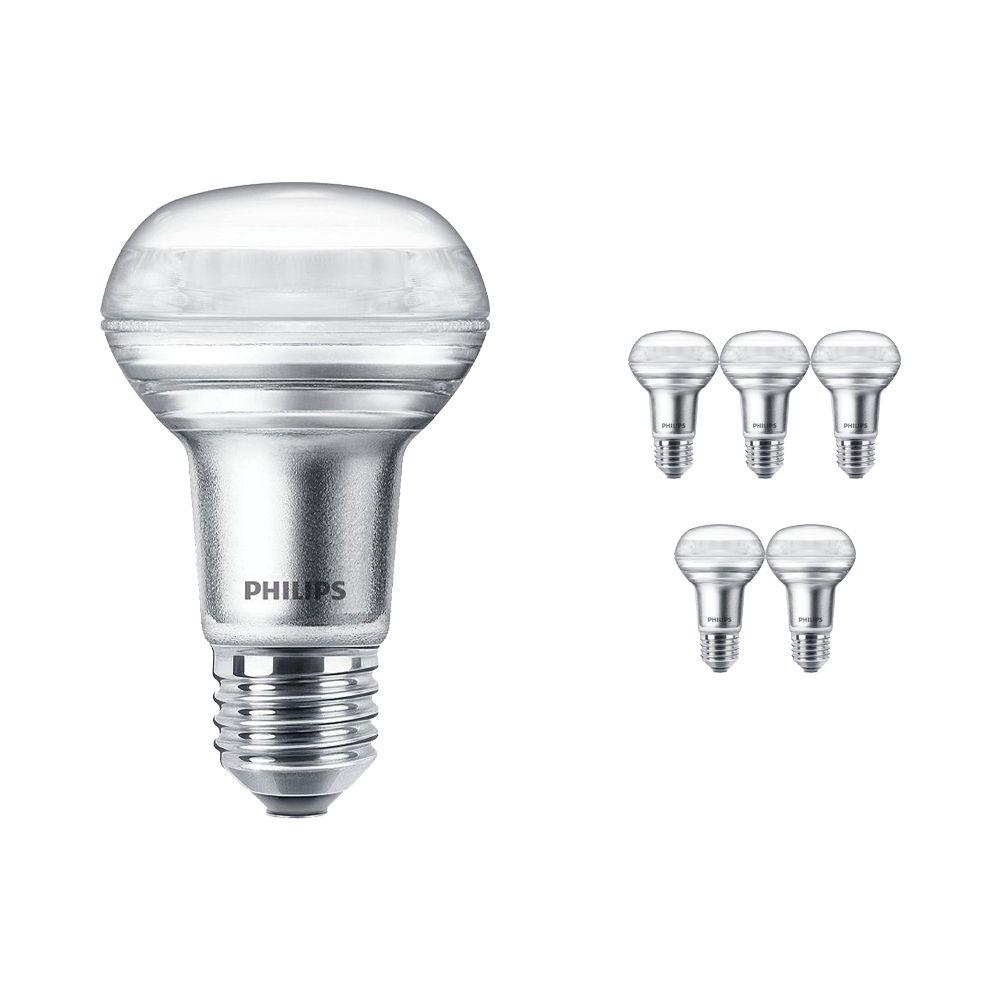 Mehrfachpackung 6x Philips CorePro LEDspot E27 Reflektor R63 4.5W 827 36D | Extra Warmweiß - Dimmbar - Ersatz für 60W