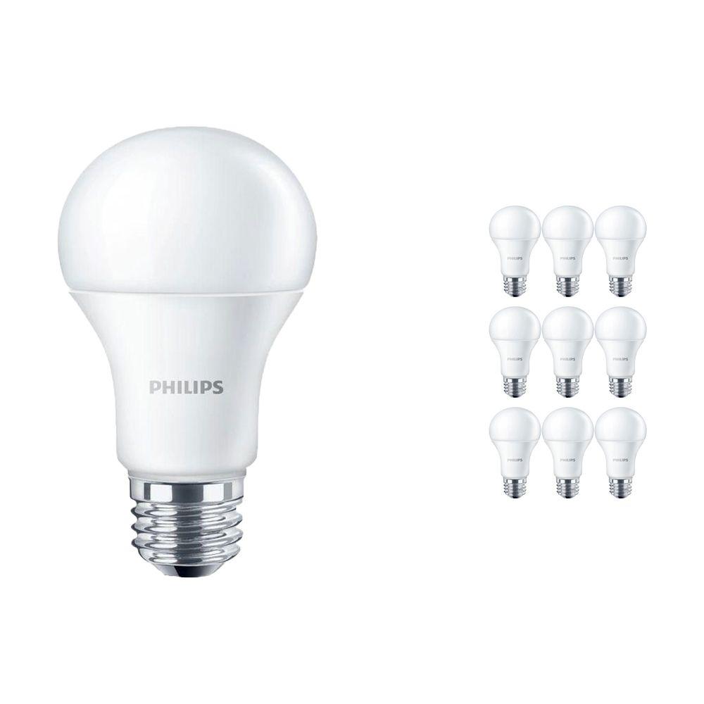 Mehrfachpackung 10x Philips CorePro LEDbulb E27 10.5W 830 Matt   Ersatz für 75W