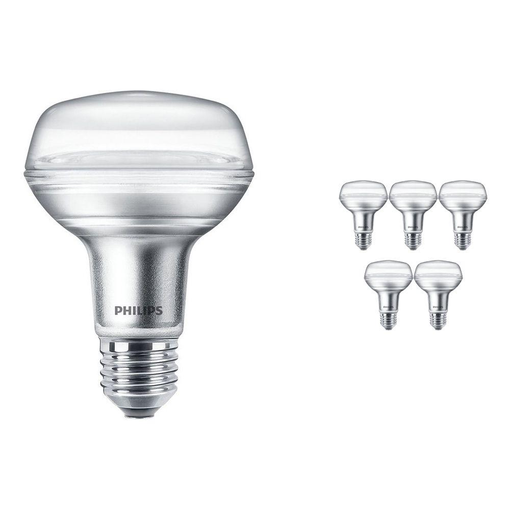Mehrfachpackung 6x Philips CorePro LEDspot E27 Reflektor R80 8W 827 36D   Ersatz für 100W