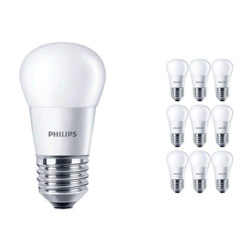 Mehrfachpackung 10x Philips CorePro LEDluster E27 P45 5.5W 827 Matt | Ersatz für 40W