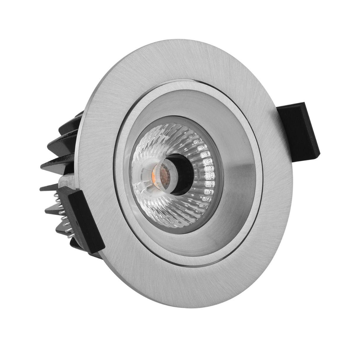 Noxion LED-Spot Diamond IP44 2700K Aluminium   Höchste Farbwiedergabe - Dimmbar