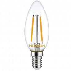 Noxion Lucent Fadenlampe LED Candle B35 E14 2.7W 827   250 Lumen - Dimmbar - Ersatz für 25W