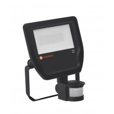 Ledvance LED-Scheinwerfer 20W 4000K 2200 Lumen IP65 Schwarz   Symmetrisch - inkl. Sensor - Ersatz für 50W