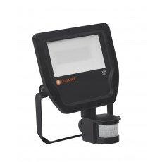 Ledvance LED-Scheinwerfer 20W 3000K 2200 Lumen IP65 Schwarz   Symmetrisch - inkl. Sensor - Ersatz für 50W