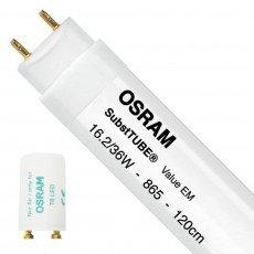 Osram SubstiTUBE Value EM 16.2 865 120cm | 1700 Lumen - mit LED-Starter - Ersatz für 36W