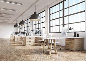 Bürobeleuchtung in Farbtemperatur Kaltweiß